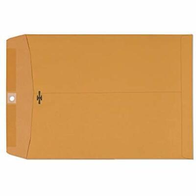 Clasp Envelopes 9x12 - Brown Kraft Catalog Closure Gummed Seal 28lb Paper Inch