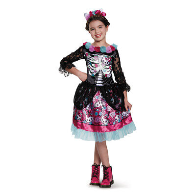 Girls Hello Kitty Día De Los Muertos Costume - Zombie Kitty Costume