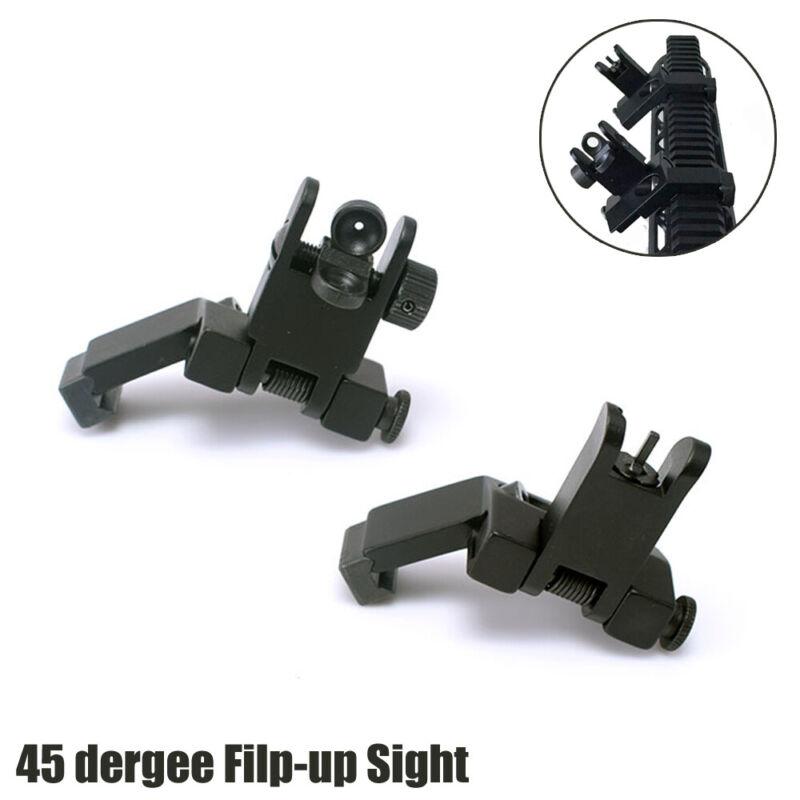 45 Degree Offset Flip Up Sight Rapid Transition Backup Front & Rear Metal Sight
