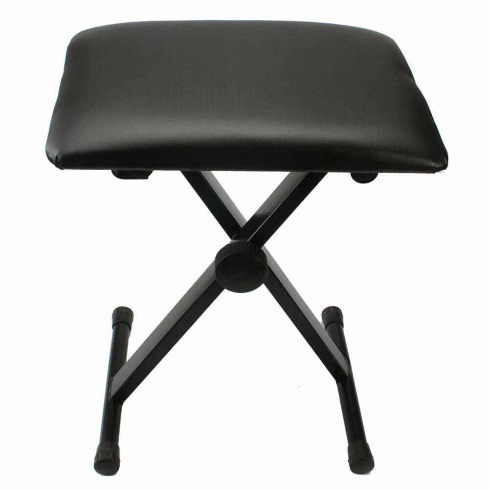 18-20 Inch Height Adjust Folding Piano Keyboard Bench Leather Stool Seat Chair - $18.04