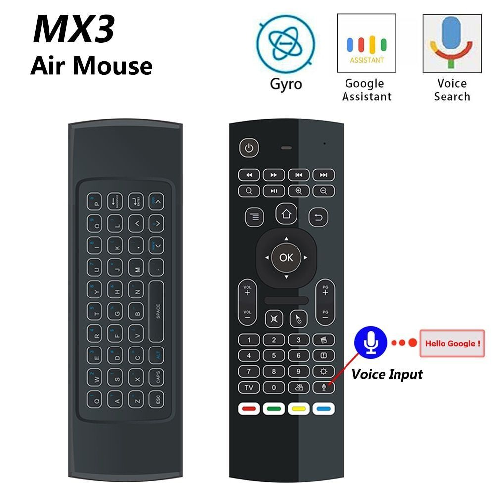 Air Mouse Keyboard Wireless Backlight TX3 Box TV Android T95