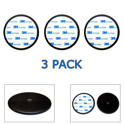"""3-Pack 90mm (3.5"""") Car Dash Adhesive Suction Cup Mount Disc Disk Pad For GPS"""