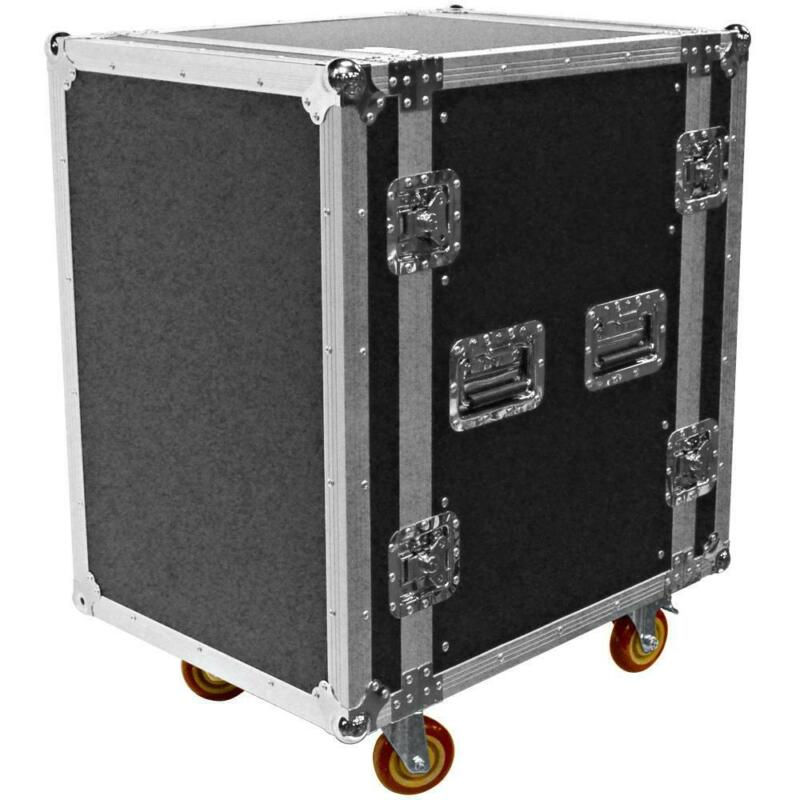 Heavy Duty 16 Space ATA Rack Case with 4 Inch Casters - 16U Server Network Case