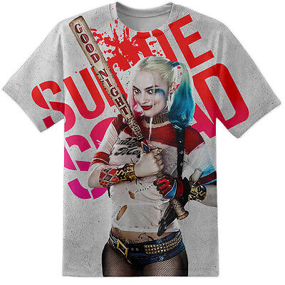 Mens Harley Quinn Suicide Squad Baseball Bat Pose T Shirt All Over Print Joker