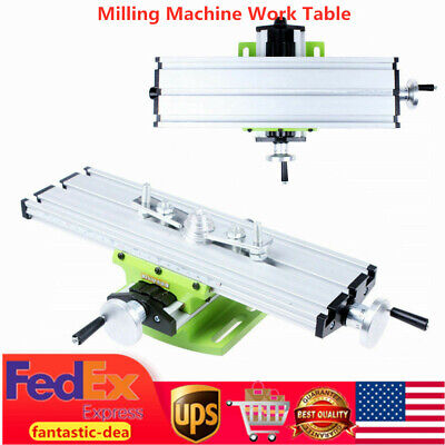 New Milling Machine Work Table Cross X-y Slide Bench Drill Press Vise Table Usa
