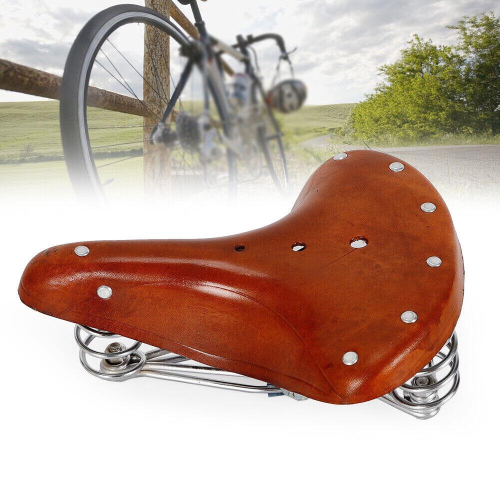 Fahrrad Ledersattel Fahrradsattel braun Echtleder Retro Hollandrad Sattel