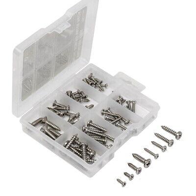 Philips Sheet Metal Screws 304 Stainless Steel Assortment Kit 79pcs