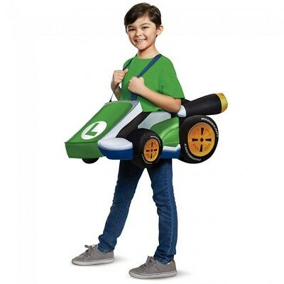 Luigi Mario Kart Child Costume Super Bros Kit Video Game Cart Group - Group Halloween Games