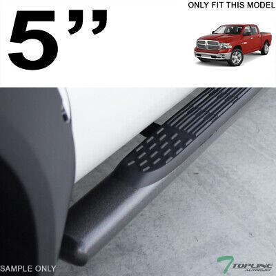 """Topline For 2009-2014 Dodge Ram 1500 Quad Cab 5"""" Oval Side Step Nerf Bars - Blk"""