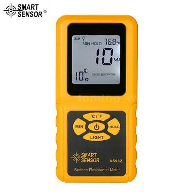 Smart Sensor Handheld Lcd Surface Resistance Meter Tester Auto Power Off T2n3