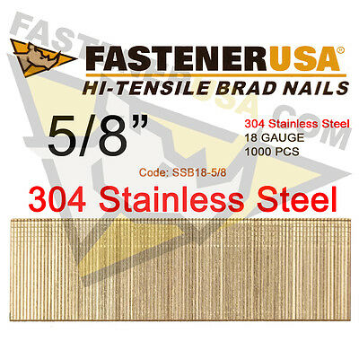 58 18 Gauge Straight Brad Finish Nails Stainless Steel 18 Ga 1000 Ct