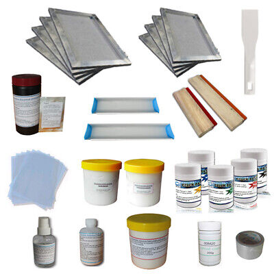 Screen Printing Materials Kit Simple T-shirt Diy Tools With Squeegees