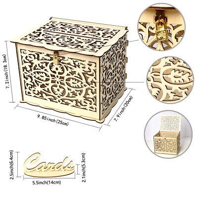 Rustic Card Box (Wedding Card Box with Lock Rustic Wood Gift Box Card Holder Wedding Party)