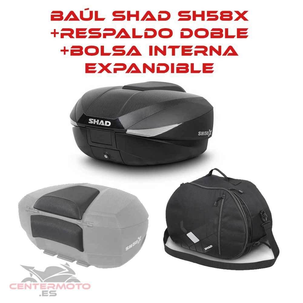 526592f1 SÓLO ENVIAMOS A PENÍNSULA (TANTO A ESPAÑA COMO A PORTUGAL). Maleta expandible  SHAD SH58X ...