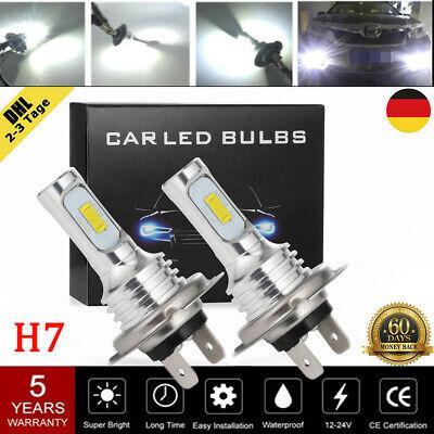 2× H7 140W 26000LM LED Scheinwerfer CSP Birnen Kit Xenon Fahrlicht Weiß 6000K DE