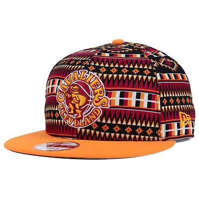 Cleveland Cavaliers New Era 9Fifty Nba Vintage Logo Adjustable Snapback Cap Hat