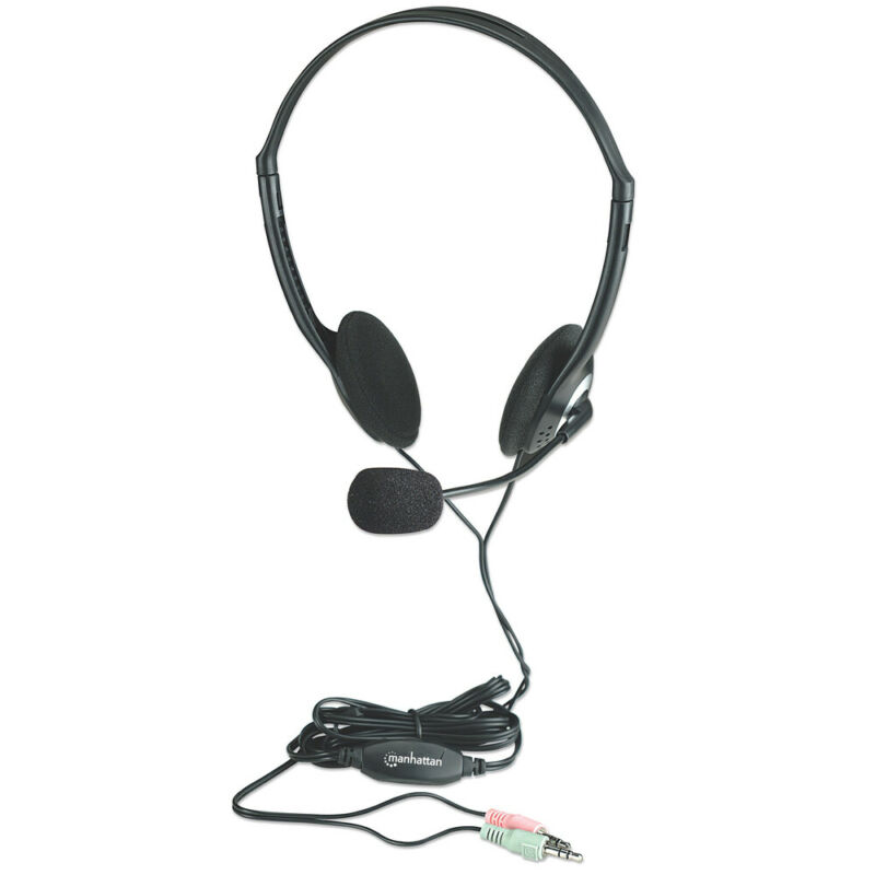 Manhattan 164429 Wired 3.5Mm Stereo Headset Microphone