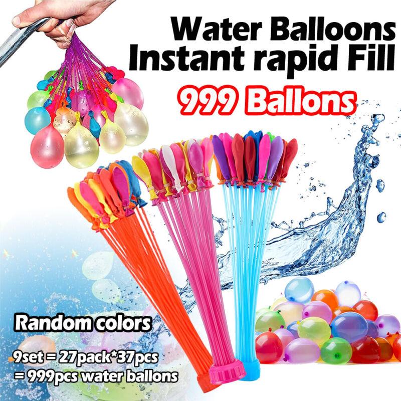 999 PCS Water Balloons Instant Fill Self Sealing Already Tied Summer Fun Outdoor