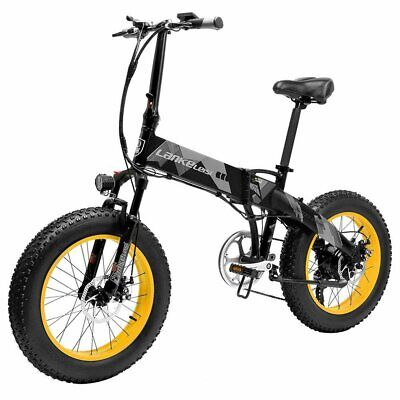 LANKELEISI X2000 Plus Bicicleta eléctrica plegable 48V 10.4AH 1000W 20x4.0