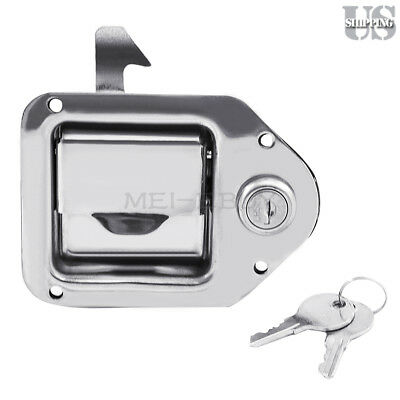 1 Toolbox Lock Stainless Door Key Latch Paddle Handle Rv Trailer 4-38 X 3-14