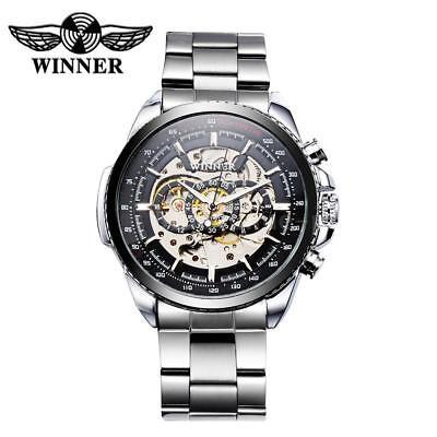 WINNER TM428 Ausgehöhlte Mechanische Automatikuhr Luxus Herren Armbanduhren O1S7
