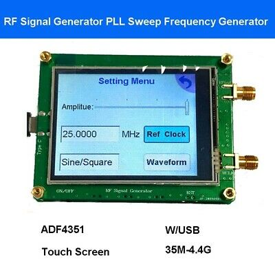 35m-4.4g Rf Signal Generator Source Spot Pll Sweep Frequency Generator Usb Touch