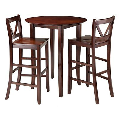 Winsome Trading Fiona 3 Piece Counter Height Round Dining Ta