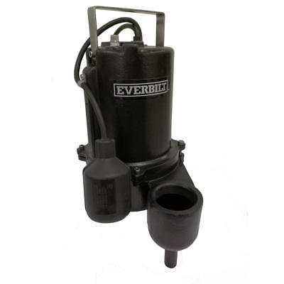 Everbilt 610 Hp Sewage Pump Model Ese60w-hd Pumps 9910gph Heavy Duty