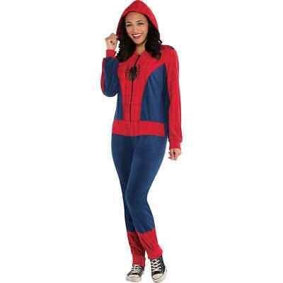 Amazing Spider-Man Spider-Girl Costume Cozie Jumpsuit Pajamas Marvel Large-XL 1