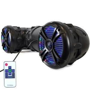 PYLE PLATV85BT Waterproof Bluetooth Power 8Speakers 1000W Peak, LED Lights-Marine, ATV, UTV, Golf Cart