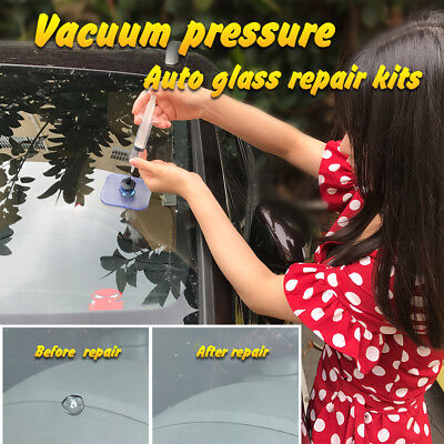 PDR DIY Car Glass Chips Crack Repair Tool Kit Windshield Windscreen Stone Damage