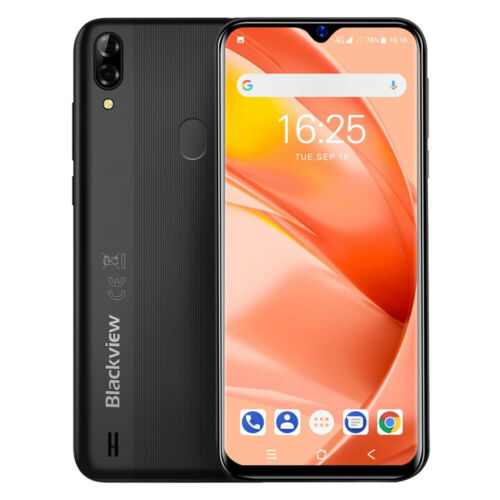 Blackview A60 Pro 3GB+16GB Handy Smartphone 4080mAh 6.1 Zoll Android 9.0 Schwarz