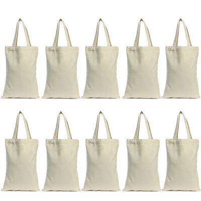 Lot 10pcs Cotton Canvas Grocery Shopping Shoulder Bag Tote Eco Friendly Reusable