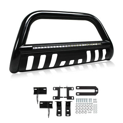 Led Bull Bar for 09-17 Dodge Ram 1500 Bumper Grille Guard + Integrated 72W Light
