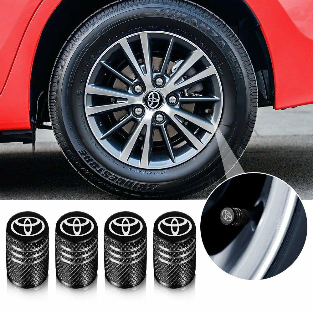 4Pcs Car Wheel Tire Air Valve Stem Aluminum Gun Black Anti-fog Stem Cap Cover