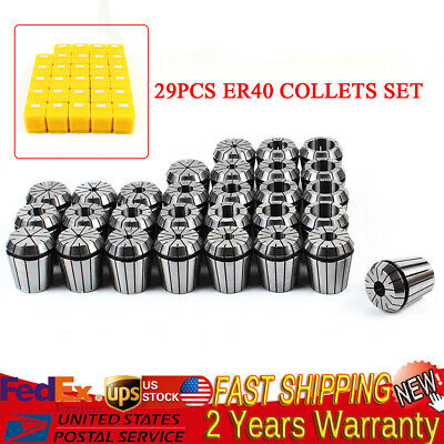 Er40 29pcs Collet Set Metric Size High Precision Spring Clamping Collet