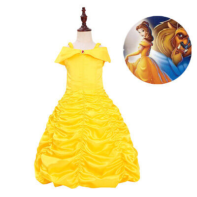 Beauty and the Beast Belle Princess Dress Girls Deluxe Princess Cosplay Costume