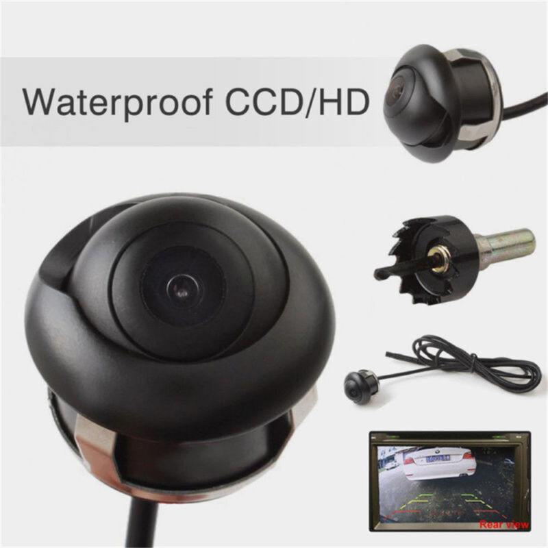 Car Parts - 360° HD CCD Waterproof Car Rear View Reverse Backup Parking Camera Night Vision