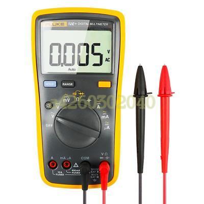 Fluke 12e Auto Range Digital Multimeter Acdc Voltage Current Tester With Bag