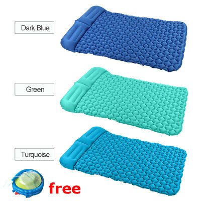 Camping Tent Air Mats Outdoor 2 Person Inflatable Sleeping Cushion Picnic Q9R0