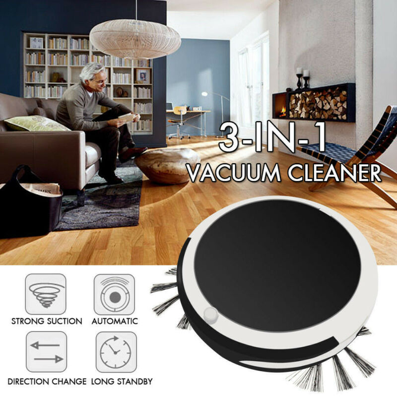 Auto Rechargeable Smart Robot Vacuum Cordless 3-in-1 Dry/Wet