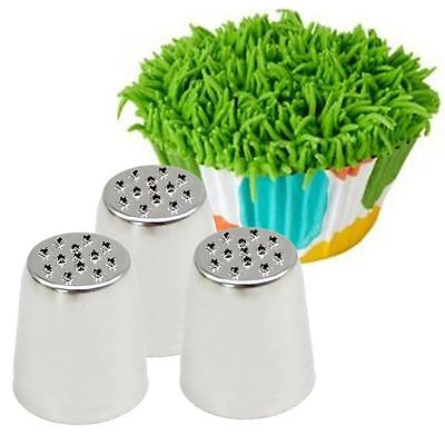 Grass Baking Decorating Cupcake Cake Icing Piping Nozzles Tips Pastry Tool - Cupcake Decorating
