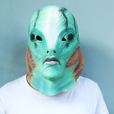 Realistic Fish Face Mask Adult Mermaid Head Masks Latex Costume Prop - Fish Mask Costume