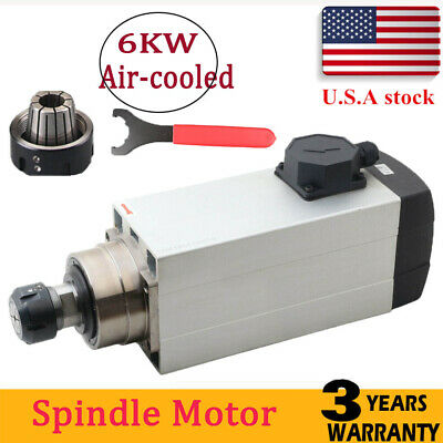 Spindle Motor Stainless 6000w Cnc Air Cooled 6kw 220v Spindle Motor Er32 Milling