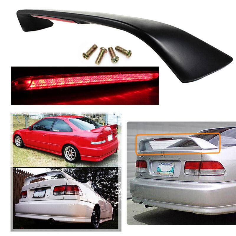 Trunk Rear Spoiler Wing w/ LED Brake Light Fit 1996-2000 Honda Civic 2Dr 6TH Si