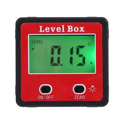 Magnet Digital Inclinometer Level Box Protractor Angle Finder Gauge Meter W6w6