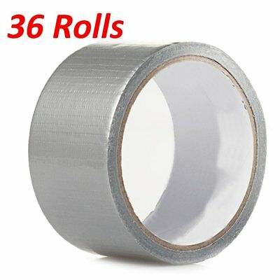 36 Rolls 30 Ft X 1.88 Industrial Utility Craft Hardware Duct Tape Silver Lot 36