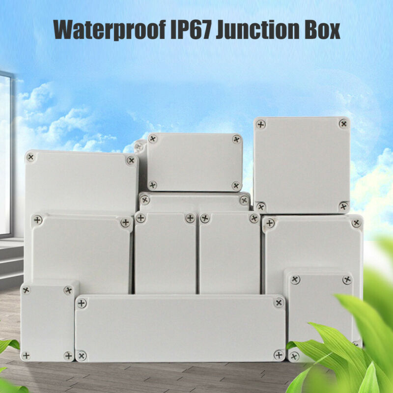 16 Sizes Waterproof IP67 ABS Project Enclosure Case Wiring Junction Box Case New