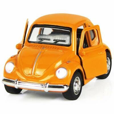 1:38 Orange Die Cast Diecast Metal Model Mini Car Vehicle Kids Toy Birthday Gift