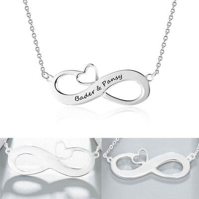 Personalized Infinity Love Couple names Necklace For Her Anniversary Xmas Gifts  - Personalized Gifts For Christmas